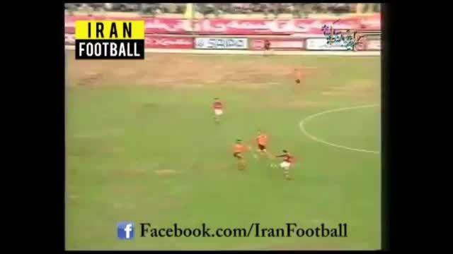 گل فوق العاده زیبای علی کریمی از وسط زمین
