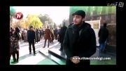 فیلم خاکسپاری مرتضی احمدی در حضور علی پروین و چهره ها