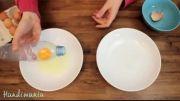 روش جدا کردن راحت زرده از سفیده تخم مرغ