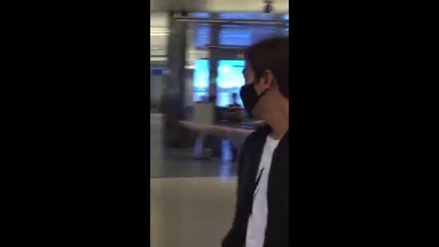 لی مین هو در فرودگاه لس آنجلس آمریکا!