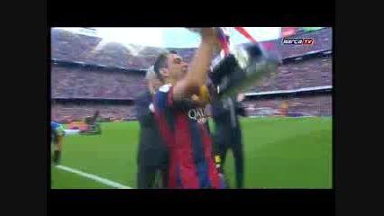 مراسم جشن قهرمانی تیم بارسلونا