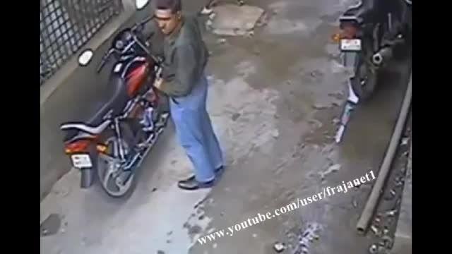سرقت موتور بدون ابزار دزدی