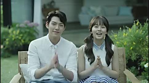 Kim Woobin  Kim Sohyun Domino's Pizza Greeting Message
