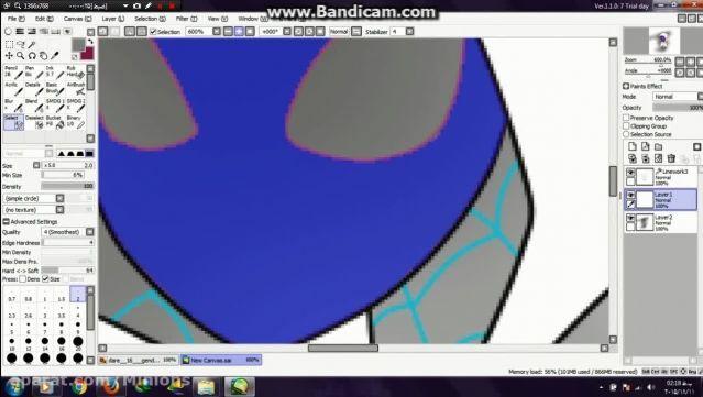 آموزش نقاشی دیجیتالی در paint tool sai (نقاشی سریع)