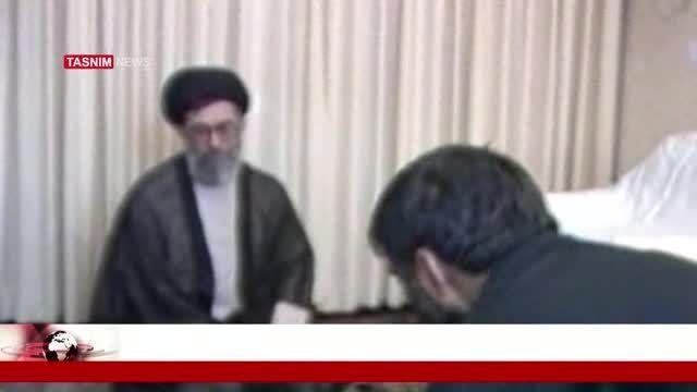 دیدار سید احمد خمینی با رهبر انقلاب پس از رحلت امام