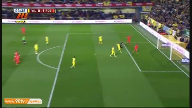 خلاصه بازی: ویارئال ۱-۳ بارسلونا