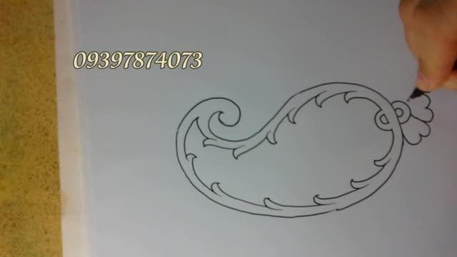 بته جقه . اموزش نقاشی با طیبه شادالو-2