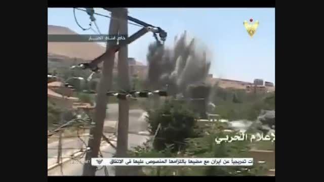 منهدم كردن تونل تروریستها توسط رزمندگان حزب الله وسوریه
