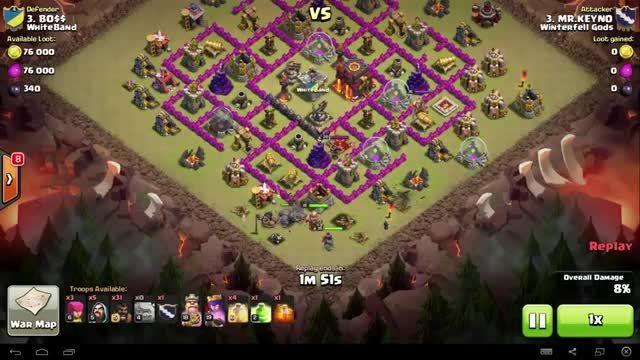 Clash of Clans - TH9 - GoHo - War 94 vs WhiteBand - Mr.