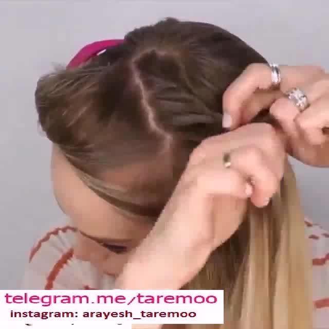 بافت مو تلی زیبا در تارمو