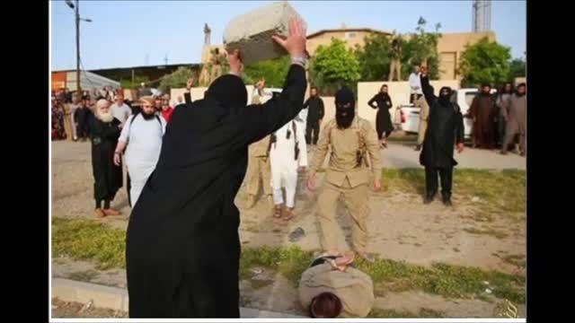 جدیدترین شیوه اعدام جلادان داعش با بلوک سیمانی-سوریه