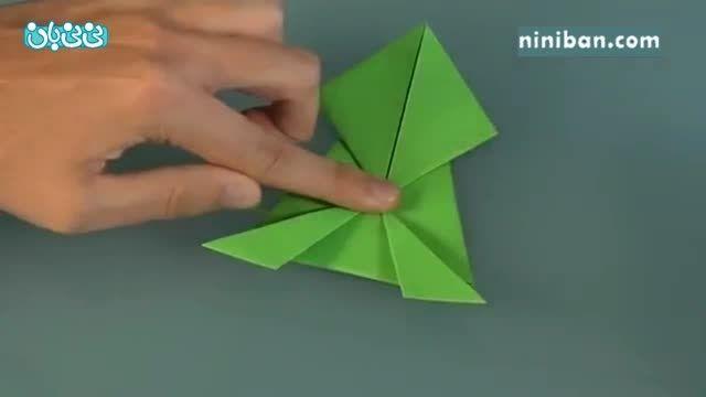 آموزش اوریگامی برای کودکان- قورباغه