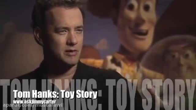 مصاحبه با تام هنکس صدا پیشه اصلی انیمیشن Toy Story