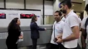 ورود تیم تیم ملی والیبال به فرودگاه لس آنجلس