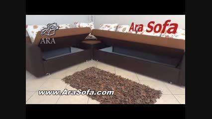 مبل ال تختخواب شو آرا مدل LP28 6 Sofa bed