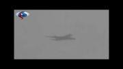 لحظه برخورد صاعقه با هواپیما
