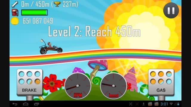 علامت شیطان پرستی در بازی hill climb racing