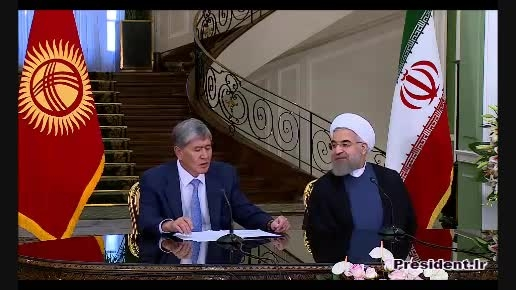 نشست خبری دکتر روحانی با رئیس جمهور قرقیزستان