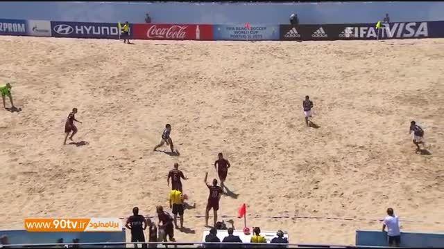 خلاصه فوتبال ساحلی: روسیه ۷-۵ پاراگوئه