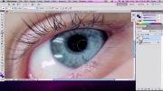 تغییر رنگ چشم و سایه چشم در فتوشاپ