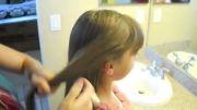 یک مدل شینیون مو به همراه بافت مو