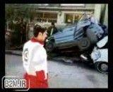 کلیپی از یک تصادف عجیب در سرعین اردبیل
