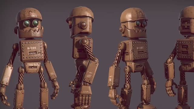 Creating and Rigging a Low Poly Robot in 3ds Max and Photoshop