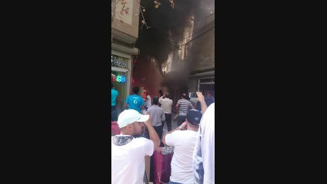 آتش سوزی بازار نعمت آباد جمعه بیست شهریور