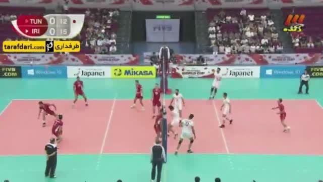 جام جهانی والیبال 2015؛   ایران 3-1 تونس