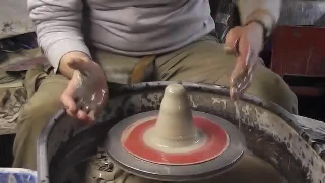 ساخت یک شمعدان سفالی