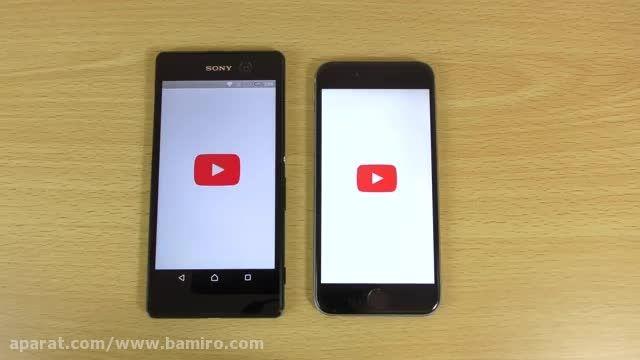 فیلم مقایسه Sony Xperia m5 با iphone 6 از بامیرو