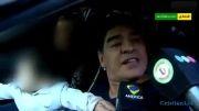 سیلی زدن مارادونا به یک روزنامه نگار