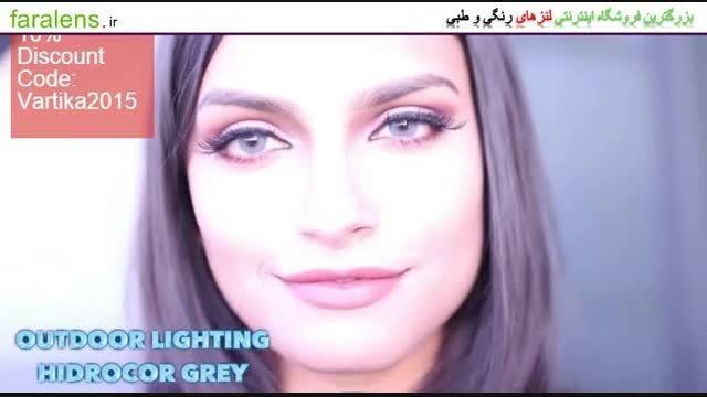 نمونه تصویری لنز چشم طبی رنگی برند Solotica