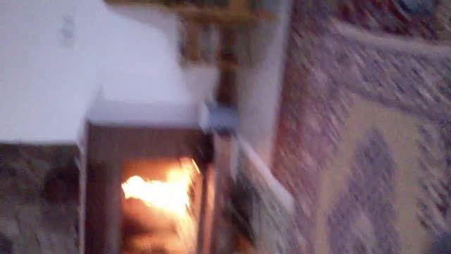 درست کردن چای زغالی در ویلای ما در جواهر ده رامسر