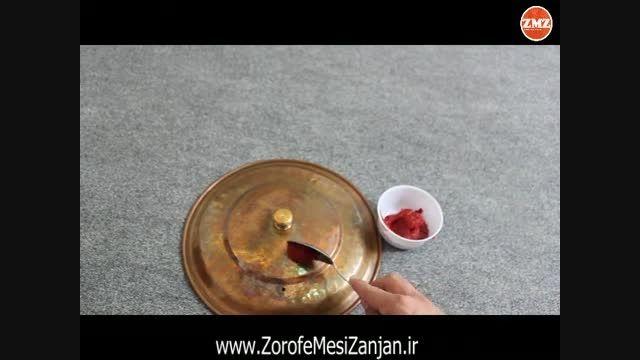 آموزش تمیز کردن ظروف مسی با رب (organickhanegi.ir)