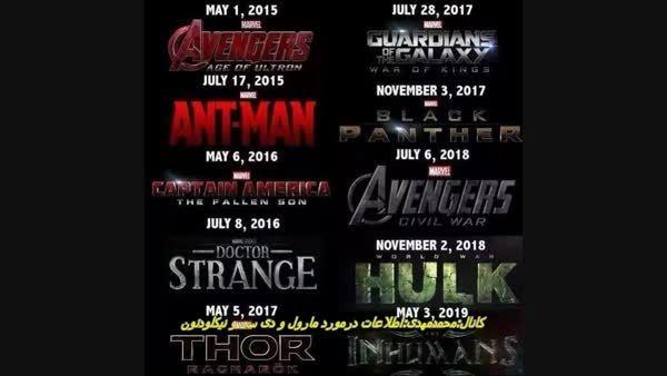 پوستر های marvel  تا سال 2019