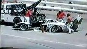 سانحه دلخراش در مسابقات اتومبیل رانی