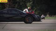 مسابقه هیجان انگیز McLaren P1 و پورشه 918 با یک موتور