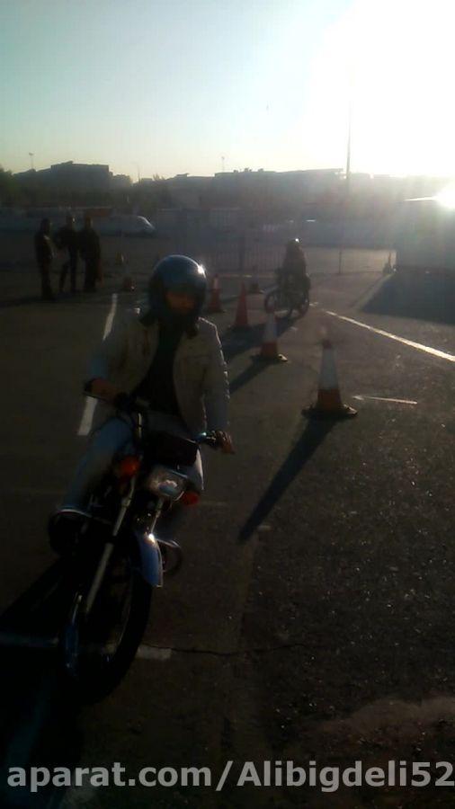 آزمون شهر موتور سیکلت شهرک آزمایش