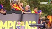 جشن قهرمانی بارسلونا در شهر