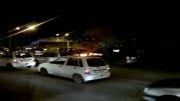 آتیش گرفتن خودرو در میدان هشتم شهریور مشهد