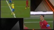بازی سوئد و پرتغال از نگاه کریس رونالدو و زلاتان(خیلی جالبه)
