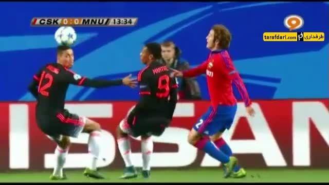خلاصه بازی زسکا مسکو 1-1 منچستریونایتد