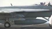 حمله جنگنده های F- 18 به مواضع داعش