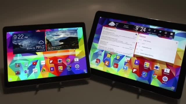 Samsung Galaxy Tab S 10.5 vs Note Pro 12.2 (size)