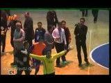درگیری دروازه بان شهید منصوری با تماشگران