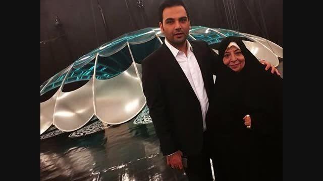 احسان علیخانی و مادرش در برنامه ماه عسل