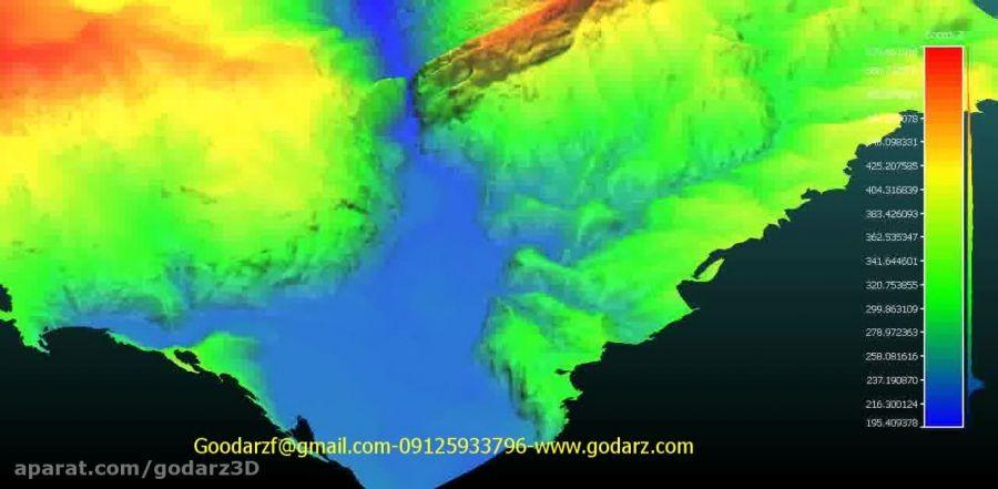 مدل سه بعدی توپوگرافی ساختگاه سد چیتی(600هکتار)