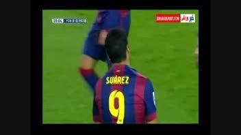 خلاصه بازی :بارسلونا۳-۲ ویارئال