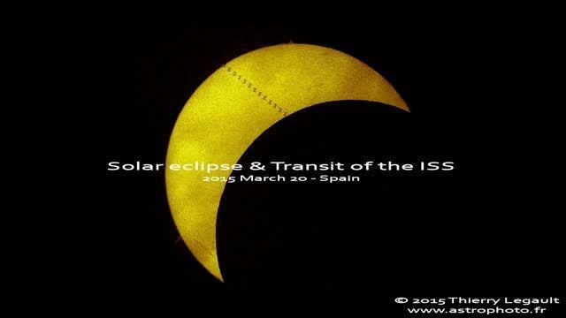 عبور ایستگاه فضایی بین المللی از مقابل خورشید